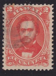 HAWAII 1864-86 2c Sc31 (or 31a) fine used target cancel.....................2190