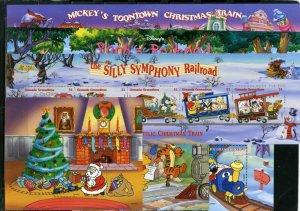 GRENADA GRENADINES 1998 DISNEY CHRISTMAS TRAINS 3 SHEETS OF 5 STAMPS 3 S/S MNH