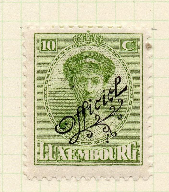 Luxembourg 1921-22 Early Issue Fine Mint Hinged 10c. Official Optd 253195