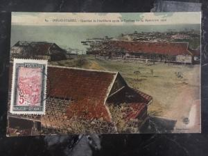 1927 Madagascar Real Picture Postcard Cover RPPC Artillery After The Cyclone