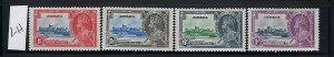 JAMAICA SCOTT #109-112 1935 GEORGE V SILVER JUBILEE MINT LIGHT  HINGED