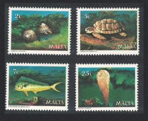 Malta Turtle Fish Shells Marine Life 4v SG#630-633