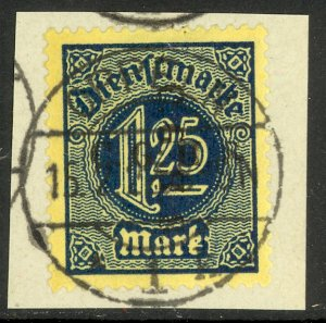 UPPER SILESIA 1920 1.25m Official C.G.H.S. DOUBLE 1 DOWNWARD Piece Mi.D17 XIII