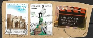 Spain mix of used on paper vf