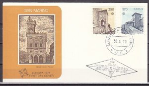 San Marino, Scott cat. 922-923. Europa-Gates issue. First day cover. ^