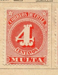 Chile 1898 Early Issue Fine Mint Hinged 4c. NW-09271