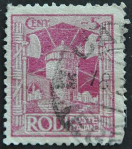 Italian Offices Abroad – Rhodes (crease)  Scott #15 – USED