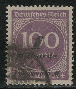 Germany Reich Scott # 310, used, exp h/s