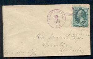 1879 MITCHELLSBURG, KY + fancy STAR cancel in magenta on 3¢ banknote, VF