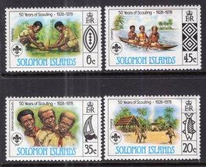 Solomon Islands 377-380 Boy Scouts MNH VF