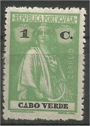 CAPE VERDE, 1914, MH 1r, Ceres Scott 147