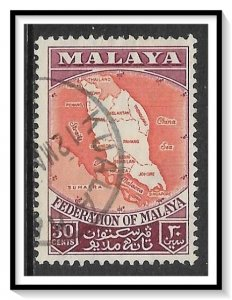 Malaya, Federation #83 Map Of Federation Used