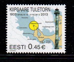 Estonia Sc 722 2013 Kiipsaare Lighthouse stamp mint NH