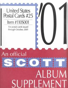 Scott United States Postal Cards #25 Supplement 2001