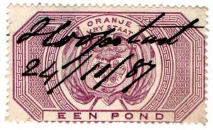 (I.B) Orange Free State Revenue : Duty Stamp £1