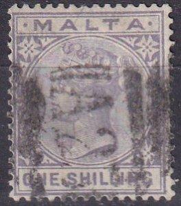 Malta #13 F-VF Used  CV $14.00  (Z1641)