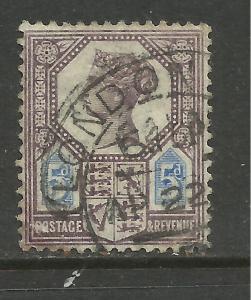 GB 1888 QV 5d Purple/Blue DIE 2 Jubilee SG 207a ( L450 )