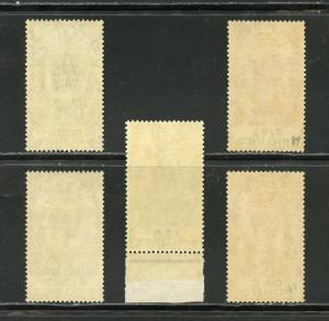 GIBRALTAR  GEO V  SCOTT#88/92, GIBBONS#100 101 105/07  MINT LH 10/  IS NH