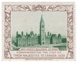 (I.B) Canada Cinderella : Royal Visit 1939 (Parliament Building)