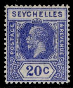 SEYCHELLES GV SG113a, 20c dull blue, M MINT.