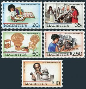 Mauritius 655-659,MNH.Michel 651-655. Industrialization 1987.Toy,Spinning,Ratan,