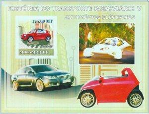A1157 - MOZAMBIQUE, ERROR, IMPERF, Souvenir sheet: 2009, Electric cars, Renault