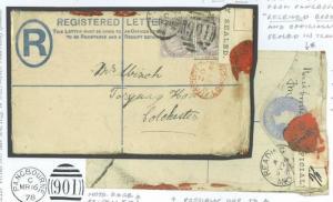 GB INTERRUPTED REGISTERED MAIL Cover 1886 *Pangbourne* Berks Official Label 247j