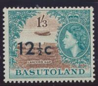 Basutoland  SG 65   Mint  Hinged  - Opt surcharge  Type I