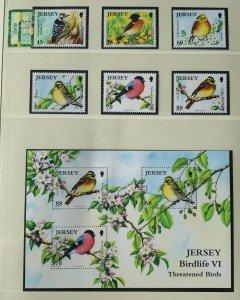 JE80) Jersey 2012 Threatened Birds Part VI set of 6 & M/S MUH