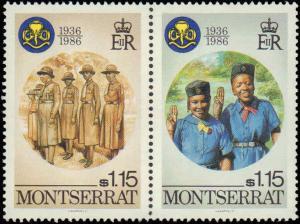 1986 Montserrat #592-595, Complete Set(4), Never Hinged