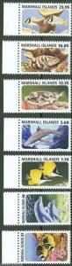 MARSHALL ISLANDS 2013  FISH HIGH VALUE DEFINITIVE SET OF SEVEN MINT NEVER HINGED