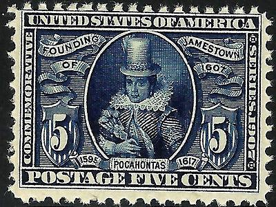 US #330 Mint-NH 1907 JAMESTOWN Expo ~ Key Issue...TE......