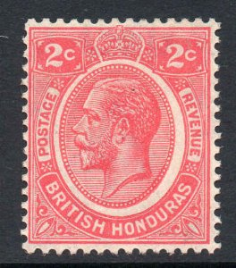 British Honduras 1922 KGV 2c rose-carmine wmk MSCA SG 128 mint.