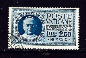 Vatican E2 Used 1929 issue