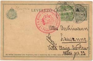 Hungary to Switzerland - 1926 Postal Stationary Card