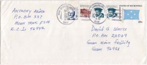 Caroline Islands Micronesia 1c Quiros (2), 3c Lutke and 17c Tonachua Peak, Tr...