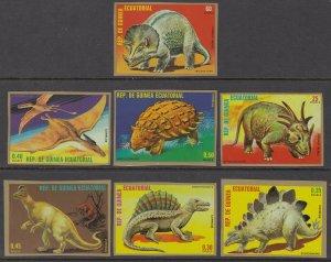 Equatorial Guinea 7877-7883 Dinosaurs Imperfs MNH VF