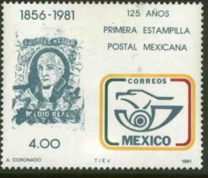 MEXICO 1242a, 125th Anniv. of Mexican Stamps WATERMARKED. MINT, NH. F-VF.