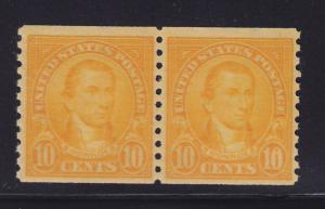 603 Pair VF OG never hinged with nice color cv $ 17 ! see pic !