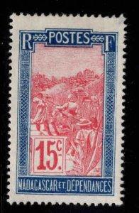 Madagascar Scott 89 MH* stamp perf tip thin