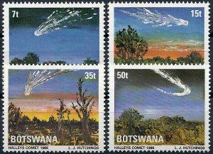 1986 Botswana Halley´s Comet, Space, complete set VF/MNH, CAT 16$