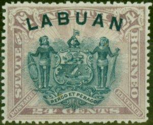 Labuan 1894 24c Pale Mauve SG73 Fine Mtd Mint