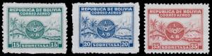 Bolivia Scott C8-10 (1928) Mint H VF Complete Set, CV $9.75
