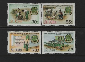 ST. KITTS 153-156 (4) Set, MNH, 1984 1st Anniversary of Independence
