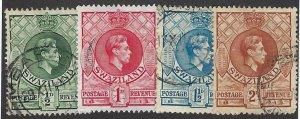 pb3405 Swaziland 27-30 used, cv $3.70 bin $1.75