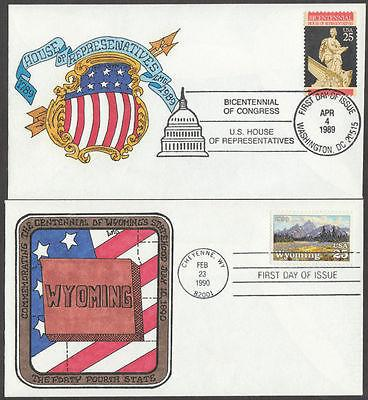 #2412; 2444 FDC HANDPAINTED BY LARRY GASSEN CHT BM8737