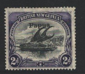 Papua New Guinea Sc#21 MH - pencil on reverse