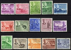Mauritius SG276/90 Set of 15 Superb used Cat 90 pounds