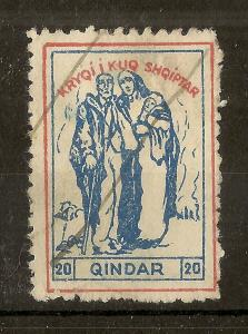 Albania Early Stamp 20Q Used