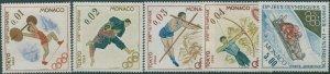 Monaco 1964 SG808-812 Olympic Games Tokyo set MNH